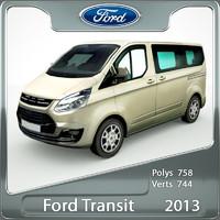 transit custom 2013 3d model