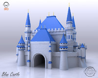 blue castle 3d 3ds