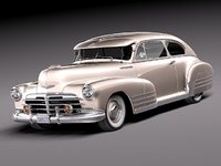 chevrolet fleetline aerosedan 1948 3d model