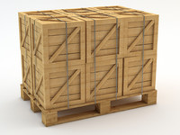 Pallet with Crates