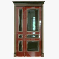 classic wood door 3d max