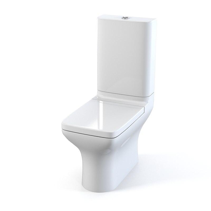 Duravit puravida toilet 3d model - Toilet model ...