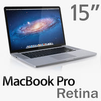 macbook pro retina display 3d model