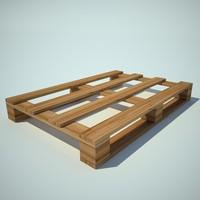 3d model wood pallet