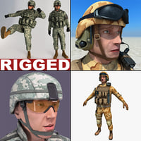 Rigged Soldiers Collection