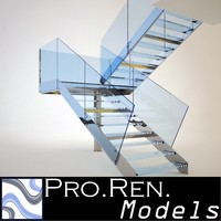 stair architectural 3d model