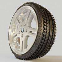3d model tyre wheel rim