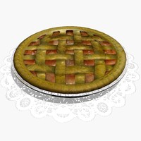 3d model apple pie