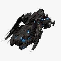 fi ship fighter 3d max
