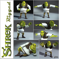 shrek rigged 3d model