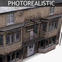 Photorealistic Old Residential House 07