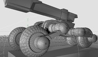 Futuristic Cannon with Wheels