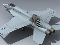 3d 3ds super hornet vfa-22 cag