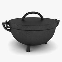 3d model iron pot