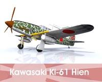 kawasaki ki-61 hien 3d obj