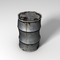 3d model rusty barrel