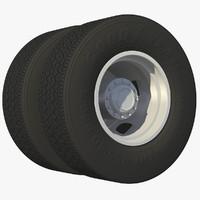 3d model wheel rear truck rim