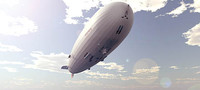 3d hindenburg airship air model