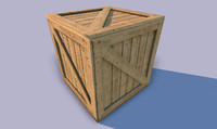 small wooden crate obj
