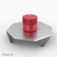 candle candlestick 3d 3ds