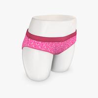 womens underwear 3d model