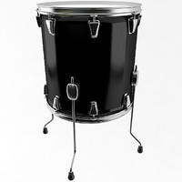 floor tom drum 3d 3ds