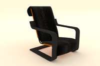 armchair medpoly 3ds