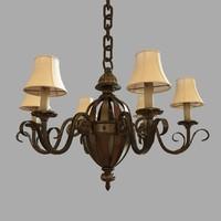 3dsmax chandelier lamp light