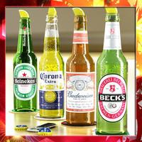 3d beer bottles 4 opener model