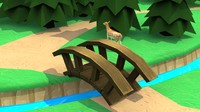 Cartoon Wooden Bridge