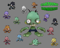cartoony zombie character cartoon max