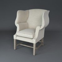 1920 s georgian chair 3d model