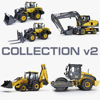 heavy vehicle excavator big 3d max