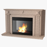 3d model fireplace maxwell