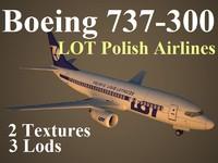 boeing 737-300 lot 3d model