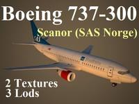 3d model boeing 737-300 cno