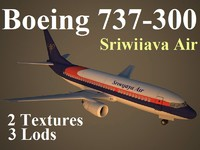 3ds max boeing 737-300 sjy