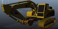 3d model excavator rigged
