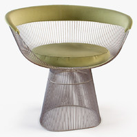 3d knoll platner lounge armchair model