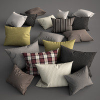 3d model pillow set