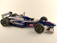 1997 williams renault formula car 3d model