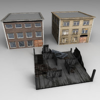 unity buildings 3d model
