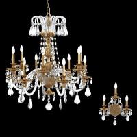 schonbek isabelle chandelier 3d model