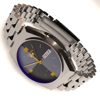seiko 5 wrist watch 3d max