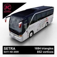 2009 setra s411 hd 3d 3ds