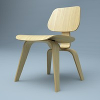 3d model hi plywood chair