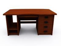3d model computer desk