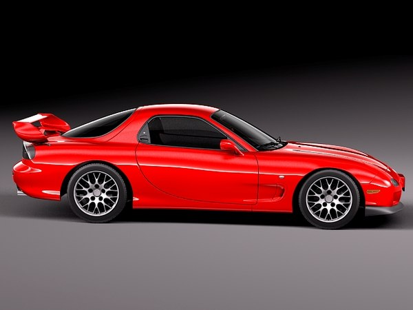 3d model mazda rx7 rx-7 sport coupe - Mazda RX-7 1998 - 2002... by squir