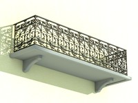 dxf architectural balcony