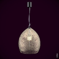 modelled fiber chandelier light 3d max